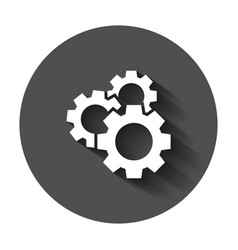 gear icon in flat style cog wheel with long vector image
