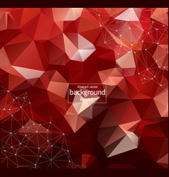Geometric red polygonal background molecule and vector