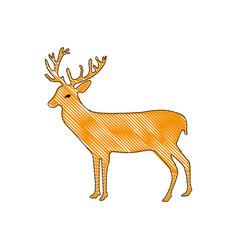 Grated reindeer animal to merry christmas vector