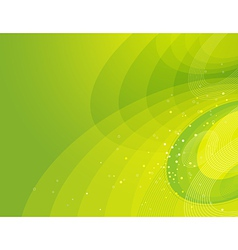 green background with decorative lines vector image