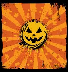 Grunge pumpkin vector