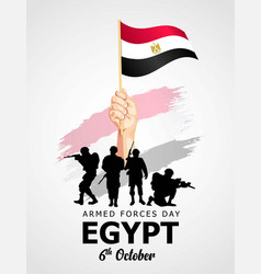 Happy armed forces day egypt vector