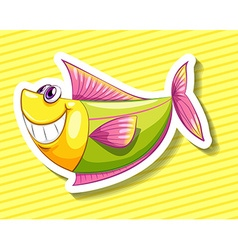 Happy fish vector