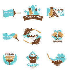 Home cleaning service of washing or mopping vector