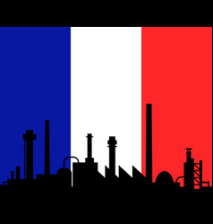 industry and flag of france vector image
