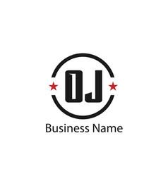 initial letter oj logo template design vector image