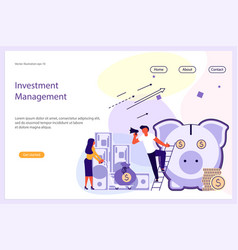 investment management website template vector image