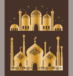 islamic mosque collection vector image