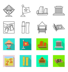 Isolated object vietnam and traditional symbol vector