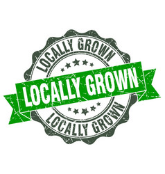 locally grown stamp sign seal vector image