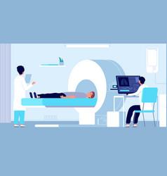 magnetic resonance imaging mri equipment doctor vector image