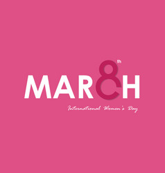 march typographical design elements international vector image