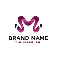 modern logo letter m vector image