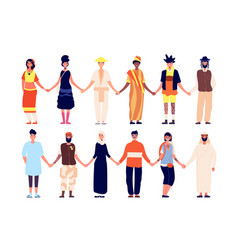 multicultural friendship ethnic people group vector image