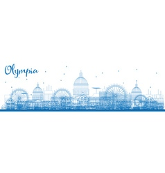 Outline Olympia Washington Skyline vector image