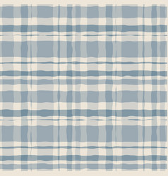 Pastel watercolor gingham plaid seamless pattern vector