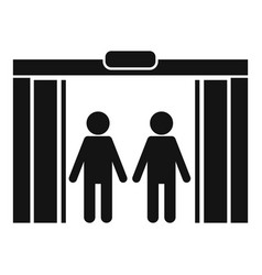 People in elevator icon simple style vector