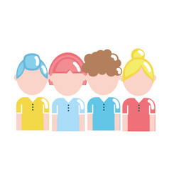people with hairstyle design and clothes vector image