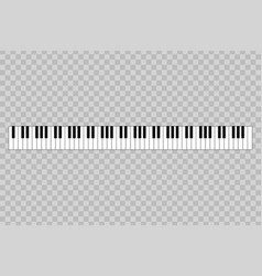 piano with 88-key vector image