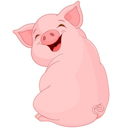 pretty pig vector image