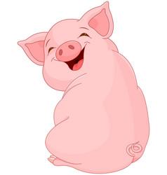 Pretty pig vector