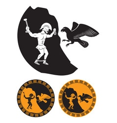 Prometheus and eagle vector image vector image
