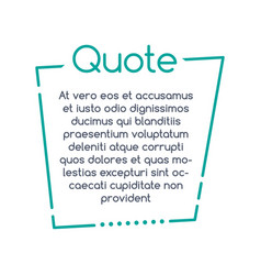 quote speech bubble template text in brackets vector image