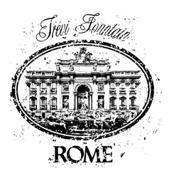 Rome icon vector