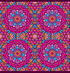 seamless pattern floral colorful vector image