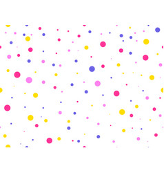 Seamless pattern with colored circles celebratory vector
