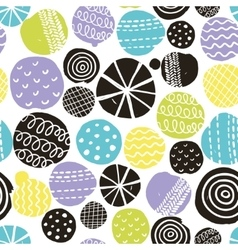 Seamless pattern with cute decoration vector image