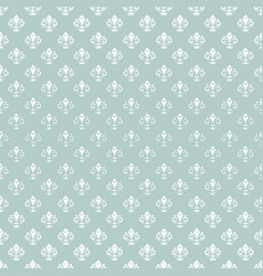 seamless pattern with white royal lily vector image