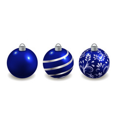 set christmas balls isolated decorative toys vector image