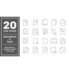 Set document icons contains such icons as vector