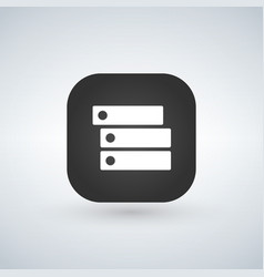 setting or option button for web design or mobile vector image