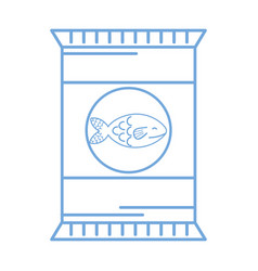 Silhouette delicious fish fillet bag food vector
