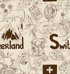 Sketch switzerland seamless pattern vector