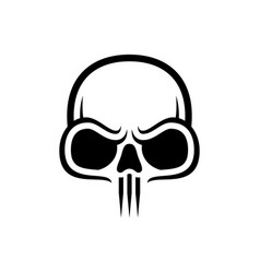 skull icon isolated image vector image