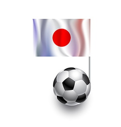 Soccer Balls or Footballs with flag of Japan vector image vector image