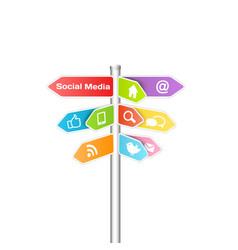Social media and networking concept vector image