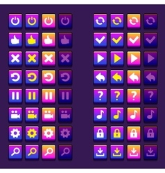 space game icons buttons icons interface ui vector image