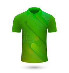 sport shirt design vector image