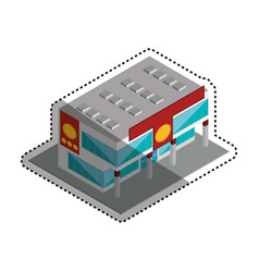 store shop building vector image