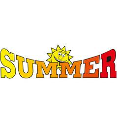 summer time banner design vector image