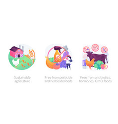 Sustainable organic agriculture abstract concept vector