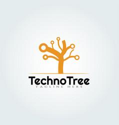 Tech tree logo designtechnology icon vector