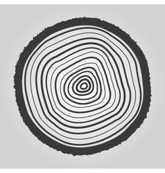 The tree rings icon Tree Rings symbol Flat vector