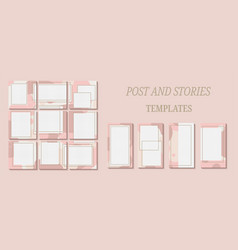 Trendy template for social networks stories vector