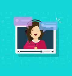 video chatting online flat vector image