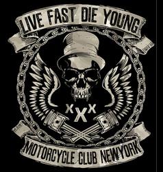 Vintage motorcycle hand drawn grunge vector